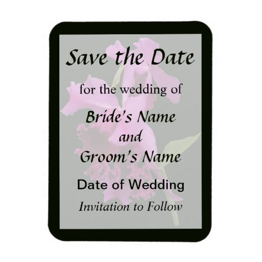 Orchid Harold Carls Save the Date Rectangular Magnet