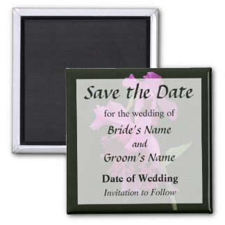 Orchid Harold Carls Save the Date Square Magnet