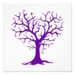 Orchid Heart Purple Tree Photo Art