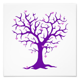 Orchid Heart Purple Tree Photo Art