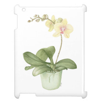 Orchid in a Green Pot Watercolour iPad Case