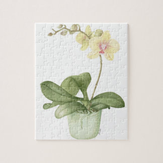 Orchid in a Green Pot Watercolour Jigsaw Puzzle