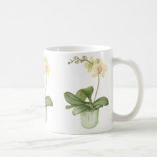 Orchid in ?Green Pot Botanical Watercolour Coffee Mug