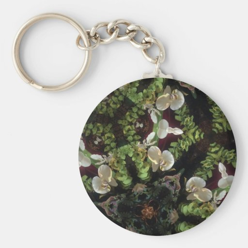 Orchid jungle keychain