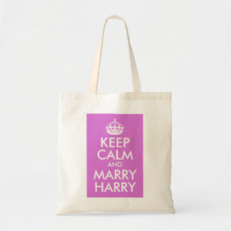 Orchid Keep Calm and Marry Harry Canvas Bag