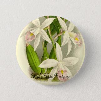 Orchid - Laelia Anceps 6 Cm Round Badge