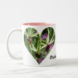 Orchid Love Two-Tone Mug