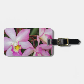 orchid luggage tag