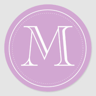 Orchid Monogram Envelope Seal by Origami Prints Round Sticker