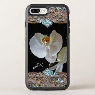 Orchid Monogram Pretty Floral OtterBox Symmetry iPhone 8 Plus/7 Plus Case