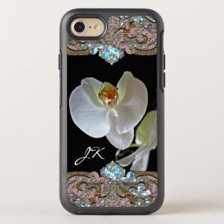 Orchid Monogram Pretty Floral Unique OtterBox Symmetry iPhone 8/7 Case