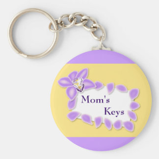 Orchid Mother s Day Keychain