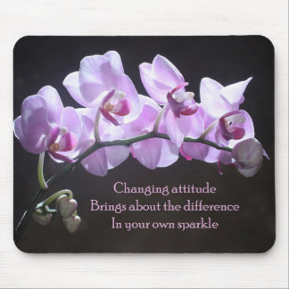Orchid mousepad - Changing Attitude