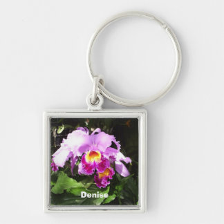 Orchid Name Keychain