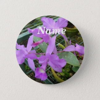 Orchid -- National Flower of Costa Rica, Name Tag 6 Cm Round Badge