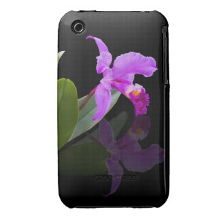 Orchid on Black iPhone 3 Case Mate Case