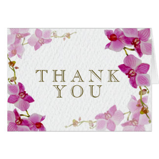 Orchid Paradise Thank You Cards