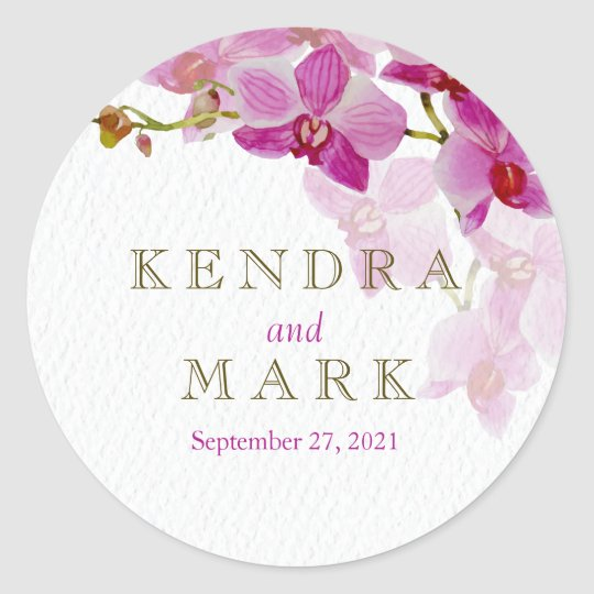 Orchid Paradise Wedding Stickers