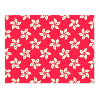 Orchid Pattern Postcard