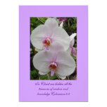 Orchid - Pink Blossom (Colossians 2:3) 13 Cm X 18 Cm Invitation Card