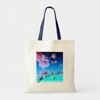 Orchid Pink Blue Sky Vine Customize Tote Bag