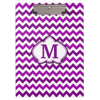 Orchid Purple Chevron Personalized Monogram Clipboard