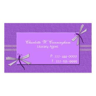 Orchid Purple Dragonflies Custom Business Card