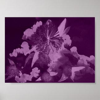 Orchid Purple Flower Poster Art