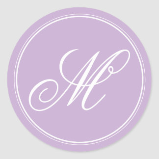 Orchid Purple Monogram Stickers