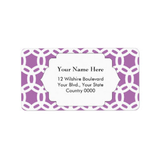 Orchid Purple Pattern Address Label