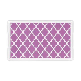 Orchid Purple Quatrefoil Tiles Pattern