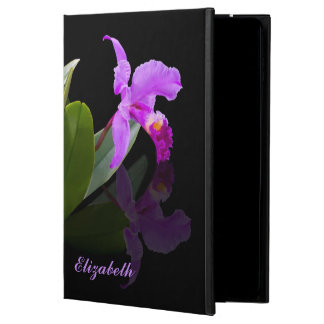 Orchid Reflected on Black, Customizable Name Powis iPad Air 2 Case