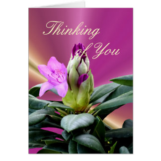 Orchid Rhododendron Buds-customize any occasion Card