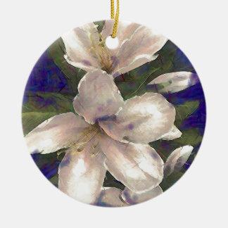 Orchid Round Ceramic Decoration