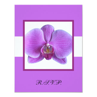 Orchid RSVP Response Card Wedding Invitation