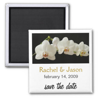 Orchid | Save the Date Square Magnet