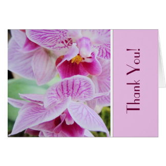 Orchid Thank You Notecard