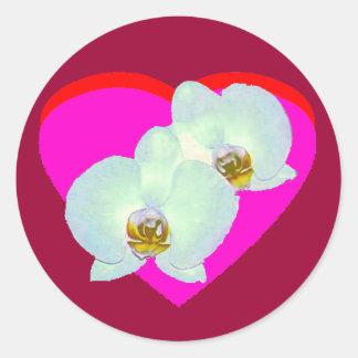 Orchid The MUSEUM Zazzle Gifts Zurich 2000 Round Sticker