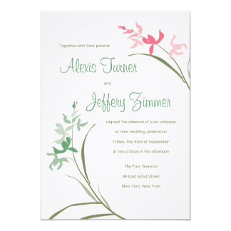 Orchid Wedding Invitation - Clover and Guava