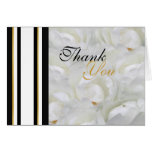 Orchid wedding white thank you classy greeting card