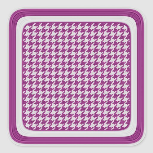 Orchid & White Knit Houndstooth Geometric Pattern Sticker