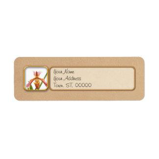 Orchid - Will the slipper fit Return Address Label