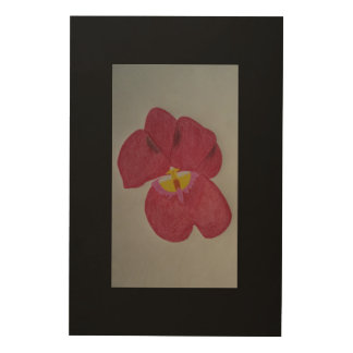 Orchid Wood Wall Art
