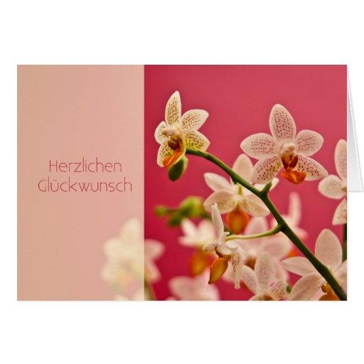 Orchidee • Geburtstagskarte Greeting Card