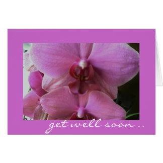 Orchidee - gut Besserung Grußkarte