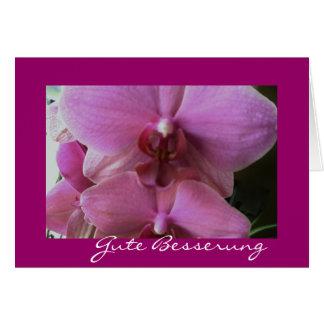 Orchidee-gute besserung grußkarte
