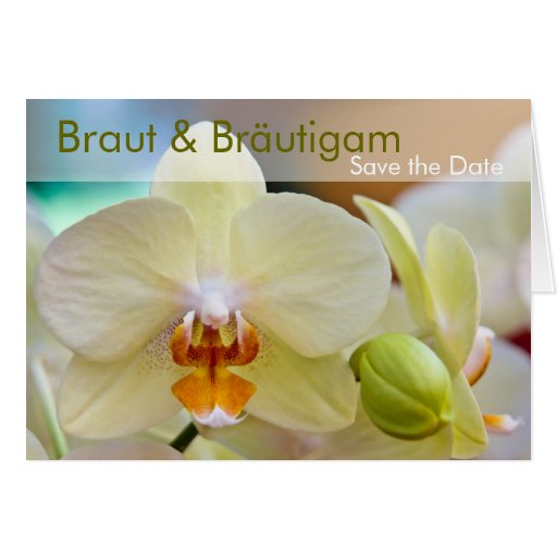 Orchidee • Save the Date Karte Greeting Card