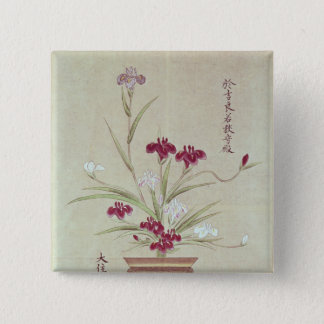 Orchids 15 Cm Square Badge