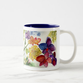 Orchids 39 and 40 diptych Two-Tone mug