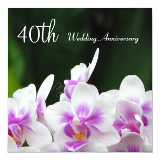 Orchids 40th Wedding Anniversary Invitation